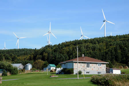 Canada, Quebec, wind generator in Cap Chat in Gaspesie Stock Photo - 16489917