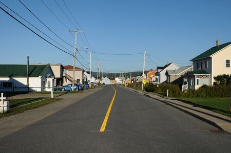 Canada, Quebec, the small village of Cap Chat in Gaspésie