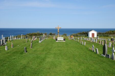 georges: Canada, Quebec, the cemetery of  Saint Georges de Malbaie Stock Photo