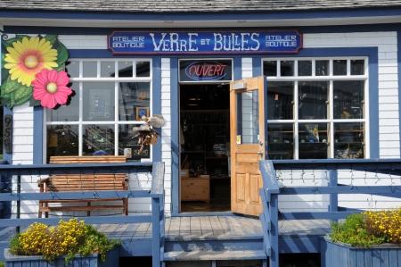 bonne: Canada, Quebec, the small village of Bonne Aventure Editorial