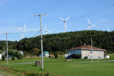 Canada, Quebec, wind generator in Cap Chat in Gaspesie photo