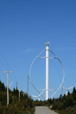Canada, Quebec, vertical wind generator in Cap Chat in Gaspesie