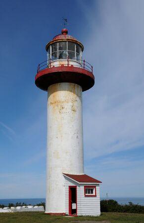 madeleine: Canada, Quebec, the lighthouse of Sainte Madeleine de la Riviere Madeleine in Gaspesie Stock Photo