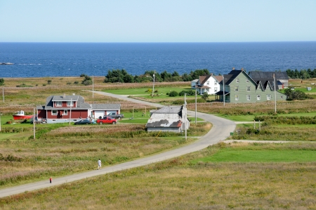 laurent: Canada, Quebec, the small village of Saint Georges de Malbaie Stock Photo