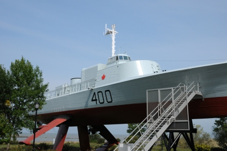 islet: Canada, Quebec, boat in the historical naval museum of L Islet sur mer Editorial