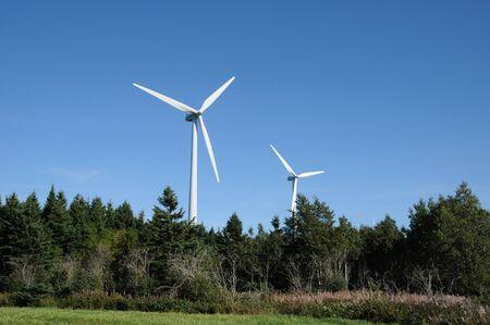Canada, Quebec, wind generator in Cap Chat in Gaspesie