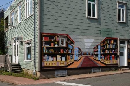 painting wall: Canad?Quebec, pintura mural en la ciudad de Montmagny