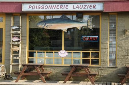 visboer: Canada, Quebec, visboer in het dorp Kamouraska