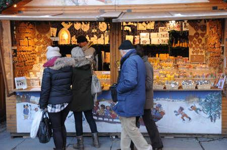 France, Bas Rhin, Christmas market in Strasbourg