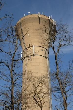 wody wieży: Ile de France, wieża ciśnień z Aubergenville