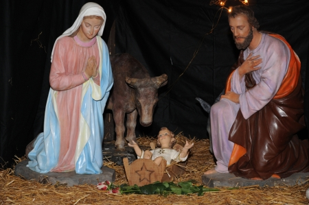 France, nativity scene in Triel sur Seine church Stock Photo - 17089501
