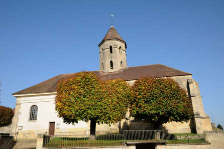 pierre: France, the Saint Pierre church of Condecourt  in Val d Oise Stock Photo