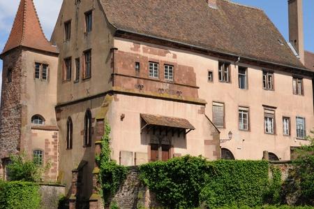 bas: France, Bas Rhin, old episcopal castle in Saverne