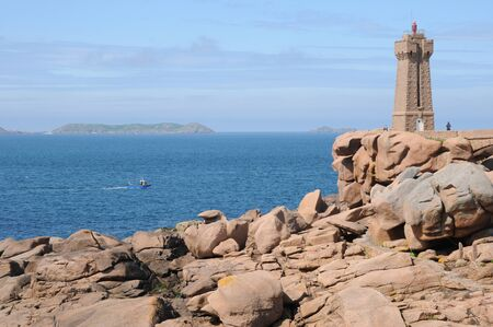 France, the lighthouse of Ploumanach in Brittany Stock Photo - 17441220