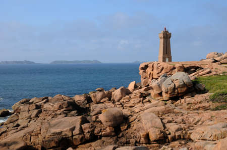 France, the lighthouse of Ploumanach in Brittany Stock Photo - 17440581