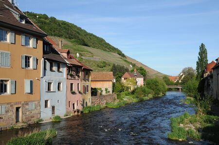 haut: France, the village of  Thann in Haut Rhin