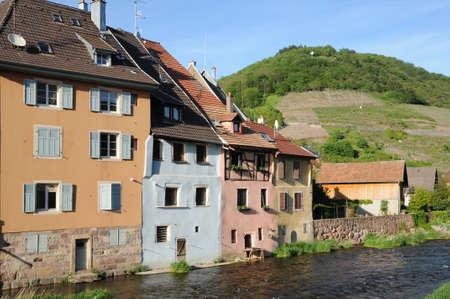 haut rhin: France, the village of  Thann in Haut Rhin
