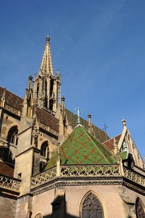 haut: Alsace, the collegiate church Saint Thiebaut of  Thann in Haut Rhin