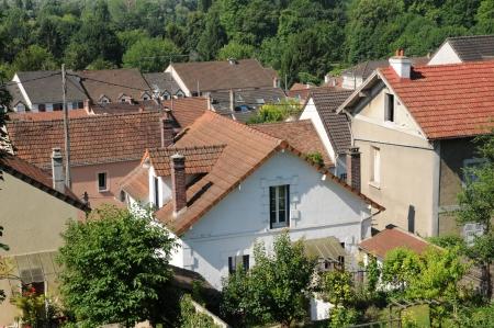 vaux: Ile de France, the city of Vaux sur Seine in Les Yvelines