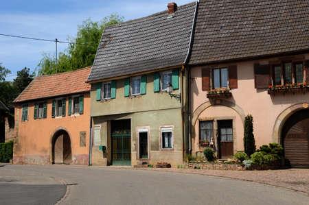 haut: France, the village of  Westhalten in Haut Rhin Stock Photo