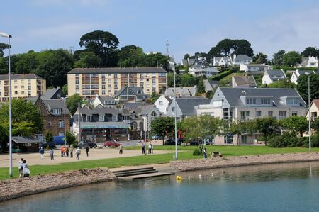 cotes d armor: France, the city of Perros Guirec in Brittany Editorial