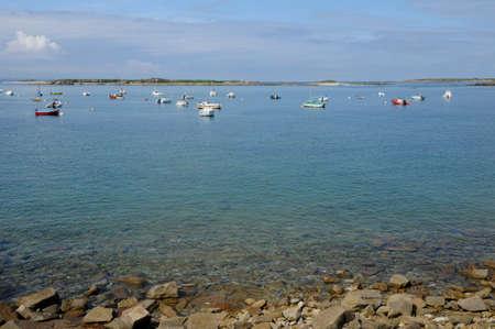 France, landscape of l Ile Grande in  Brittany Stock Photo - 17652792