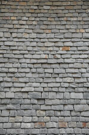 France, close up of thick slates in Brittany photo