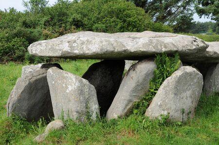 France, gallery grave in l Ile Grande  in Brittany