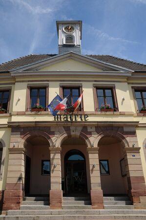 haut rhin: Haut Rhin, el ayuntamiento de Westhalten