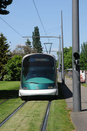 distric: France, tramway in European Parliamant distric of Strasbourg