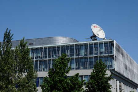 bas: France, Bas Rhin, Arte building in Strasbourg Editorial