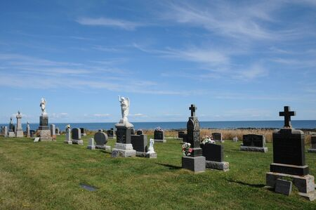luce: Canada, Quebec, the picturesque cemetery of Sainte Luce