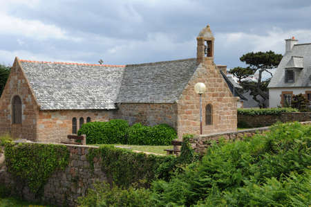 ploumanach: France, the Saint Guirec chapel of Ploumanach in Brittany