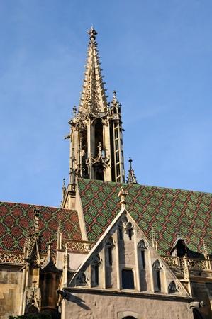 haut rhin: Alsacia, la colegiata de San Thiebaut de Thann en Haut Rhin