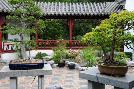 Canada, Quebec, Pagoda In Chinese Garden Of The Botanical Garden ...