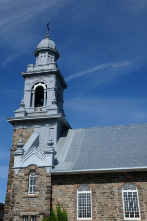 luce: Canada, Quebec, the historical church of Sainte Luce   Stock Photo