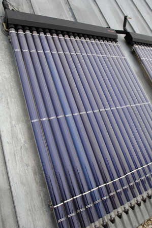 solar panels on a roof of a building Stock Photo - 17827906