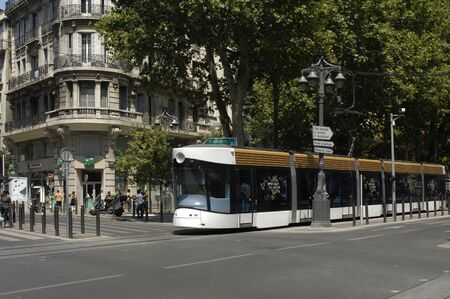 marseille: Frankrijk, tram in Marseille