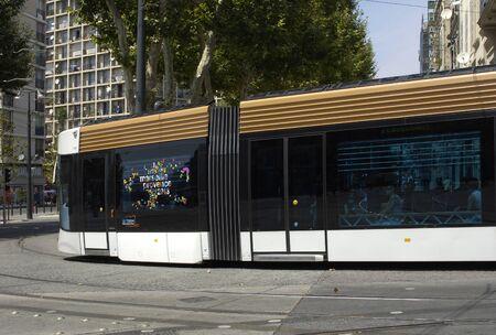 railborne vehicle: France, tramway in Marseille   Editorial