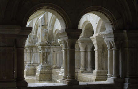 cloister: France, Burgundy, the cloister of Fontenay s abbey
