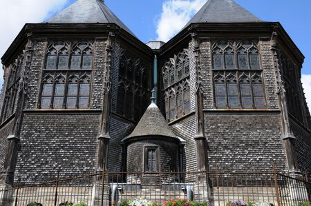 glasswork: France, the Sainte Catherine church of Honfleur in Normandy