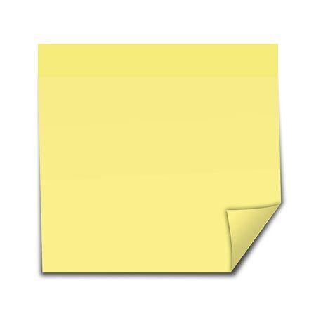 黄色貼ってはがせるメモ 写真素材