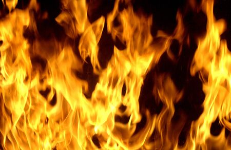 close up chimney: close up of flames in a chimney