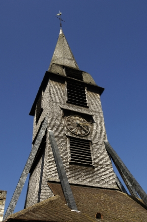 glasswork: France, the bell tower of Sainte Catherine church of Honfleur in Normandy