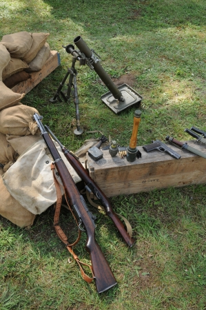 vintage riffle: mortar of the second world war