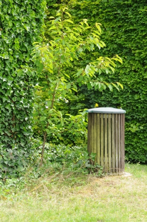 trash can in a public park Stock Photo - 18155442