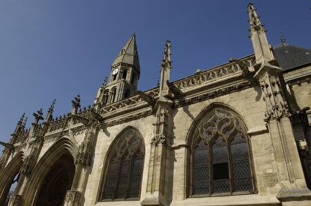 collegiate: Ile de France, collegiate church of Poissy in Les Yvelines