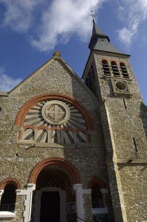 plage: France, the church of Le Touquet Paris Plage in Nord Pas de Calais