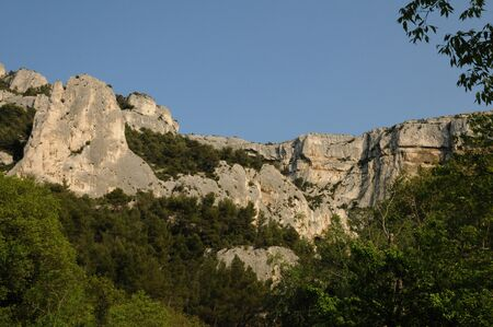 vaucluse: France, the village of Fontaine de Vaucluse in Provence Stock Photo