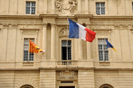 arles: France, the city hall of Arles in Provence